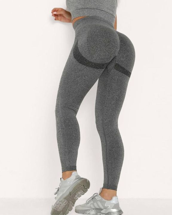 Solid Beauty Contour Butt Lifting Sports Leggings gallery 1
