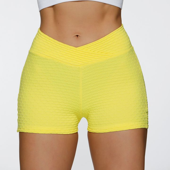Butt Lifting Elastic Ruched Running Sports Shorts gallery 9