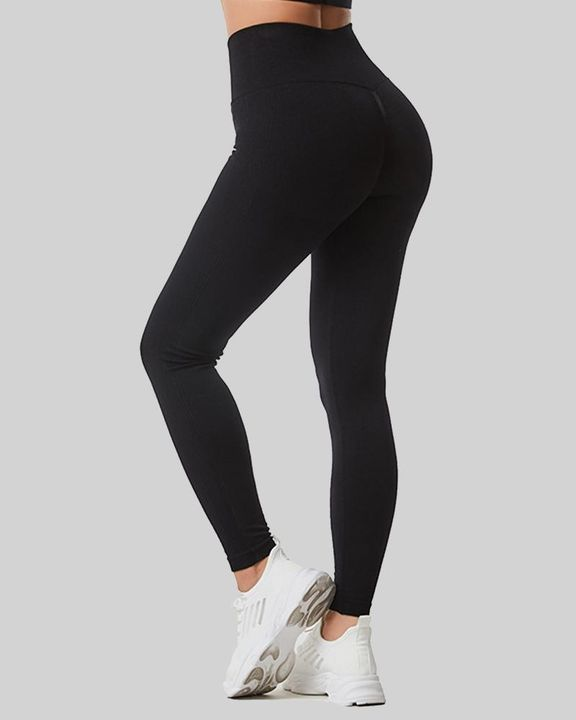 Space Dye Wide Waistband Butt Lifting Sports Leggings gallery 1