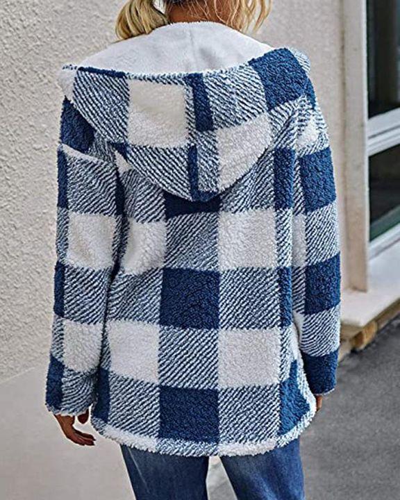 Sherpa Fleece Double-sided Open Front Teddy Coat gallery 2