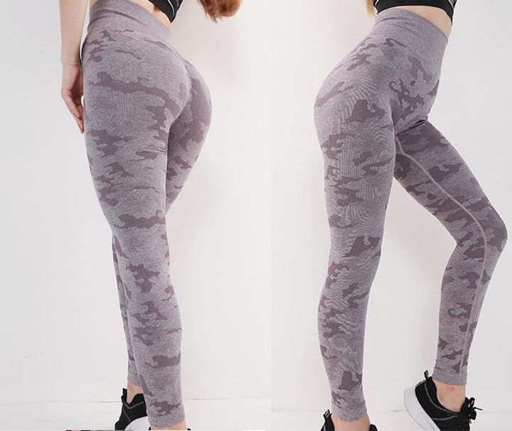 High Waist Camouflage Hip Lifting Compression Sports Leggings gallery 4
