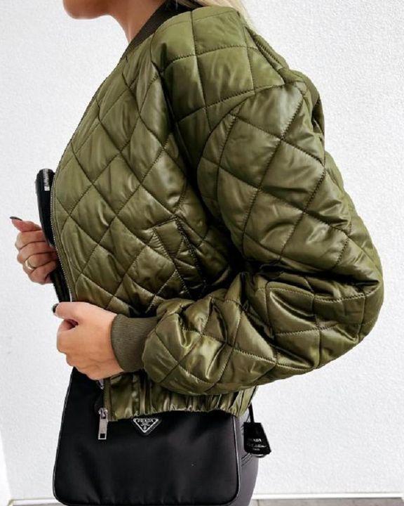Baseball Collar Zip Front Slant Pocket Jacket gallery 4