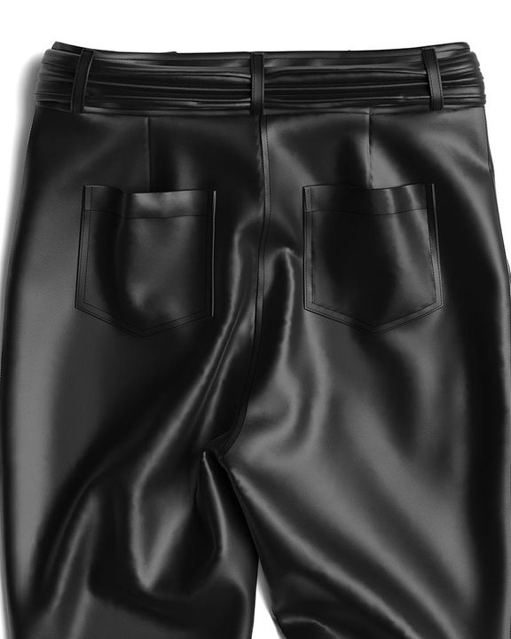 Bow Tie Front Skinny PU Leather Pants gallery 18