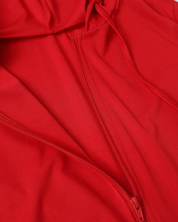 Solid Zip Up Dual Pocket Hooded Top & Pants Set gallery 14