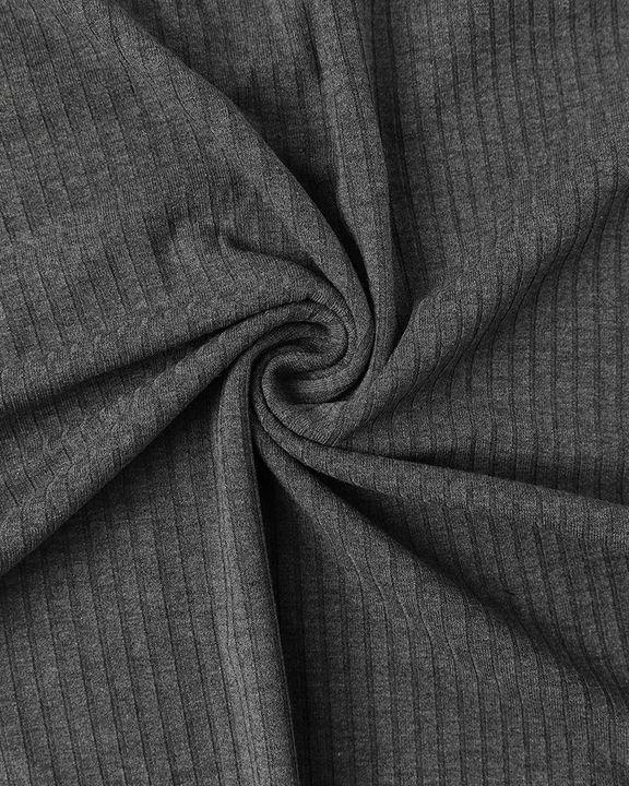 Solid Ribbed Scoop Neck Long Sleeve Bodysuit gallery 21