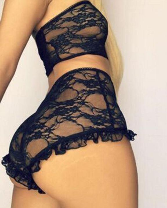 Floral Lace Strapless Lingerie Set gallery 2
