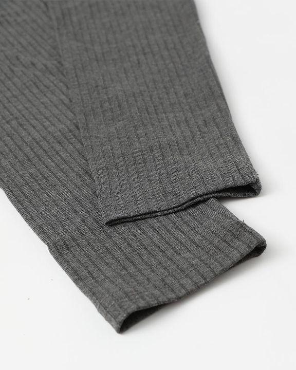 Solid Ribbed Scoop Neck Long Sleeve Bodysuit gallery 20