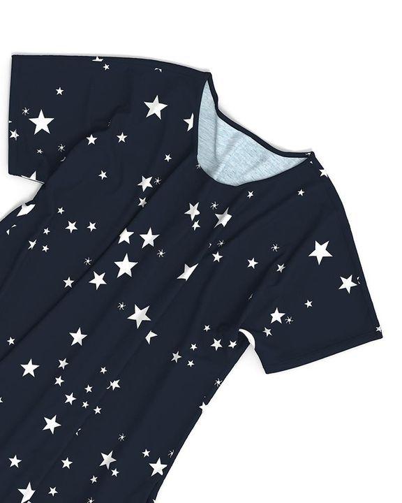 Stars Print Dual Pocket Maxi Dress gallery 9