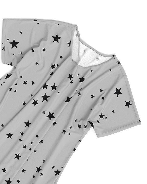 Stars Print Dual Pocket Maxi Dress gallery 19