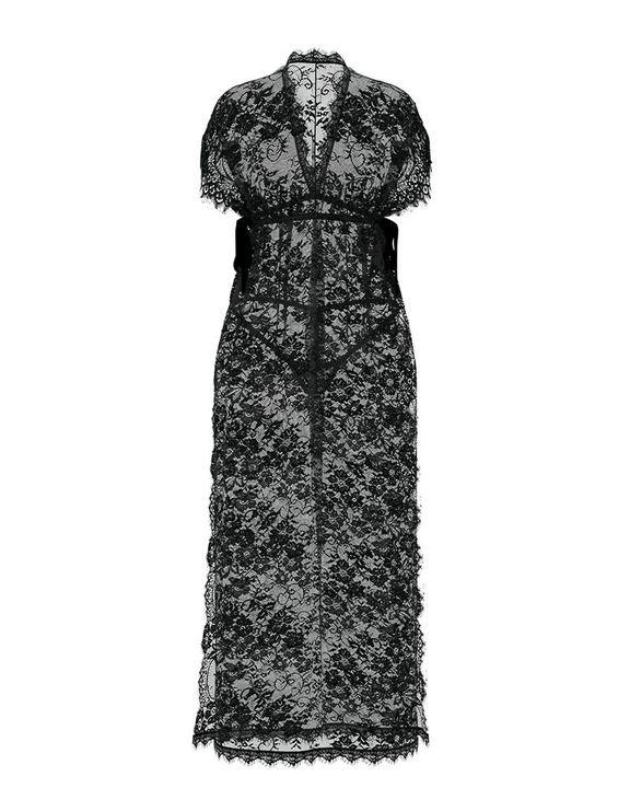 Eyelash Sheer Floral Lace Split Hem Nightdress With Panty gallery 5