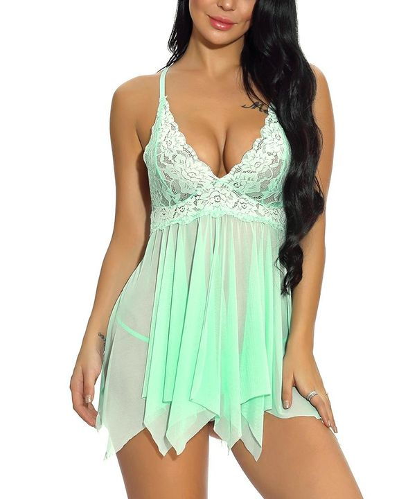 Floral Lace Scallop Trim Slips & Thong gallery 4