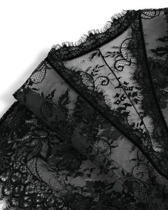 Eyelash Sheer Floral Lace Split Hem Nightdress With Panty gallery 10