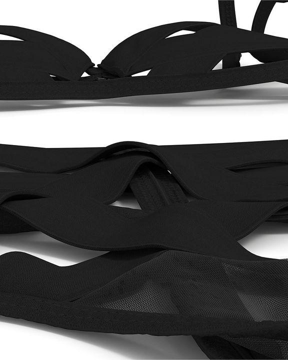 Criss Cross Solid Cutout Lingerie Set gallery 12