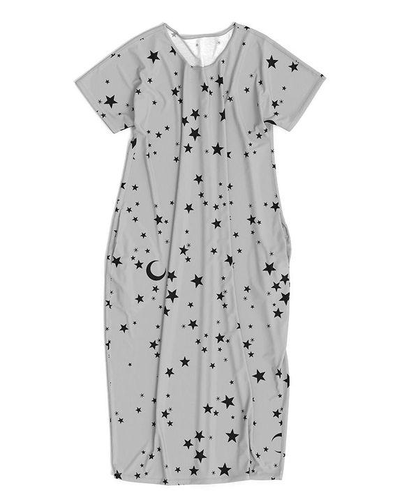 Stars Print Dual Pocket Maxi Dress gallery 18