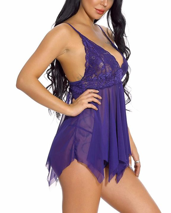 Floral Lace Scallop Trim Slips & Thong gallery 9