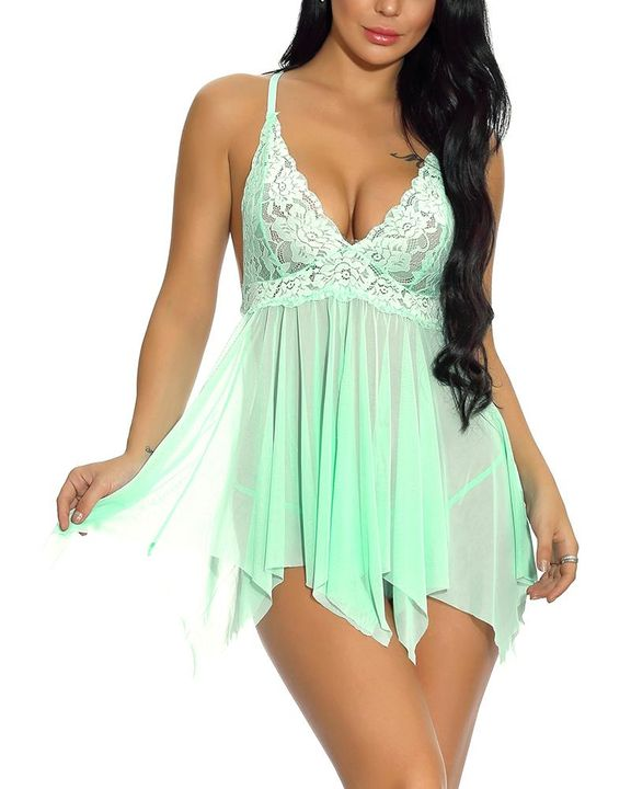 Floral Lace Scallop Trim Slips & Thong gallery 20