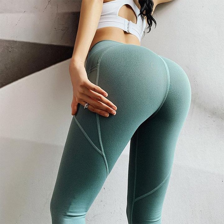 Hip Lifting Side Pocket Compression Stretch Workout Leggings gallery 5