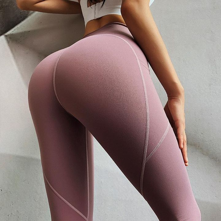 Hip Lifting Side Pocket Compression Stretch Workout Leggings gallery 2