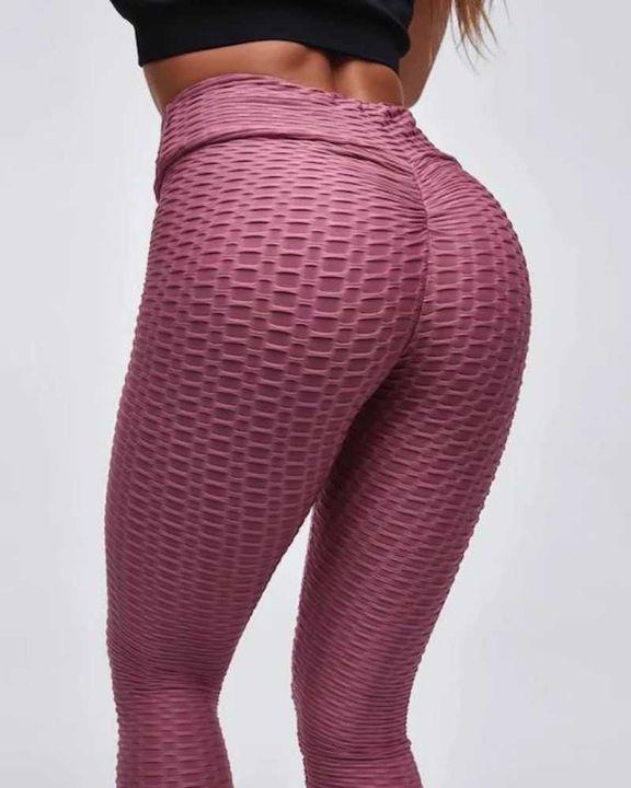 High Waist Butt Lifting Textured Leggings gallery 15