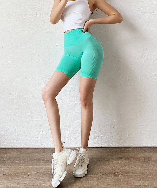 High Waist Beauty Contour Skinny Sports Shorts gallery 8