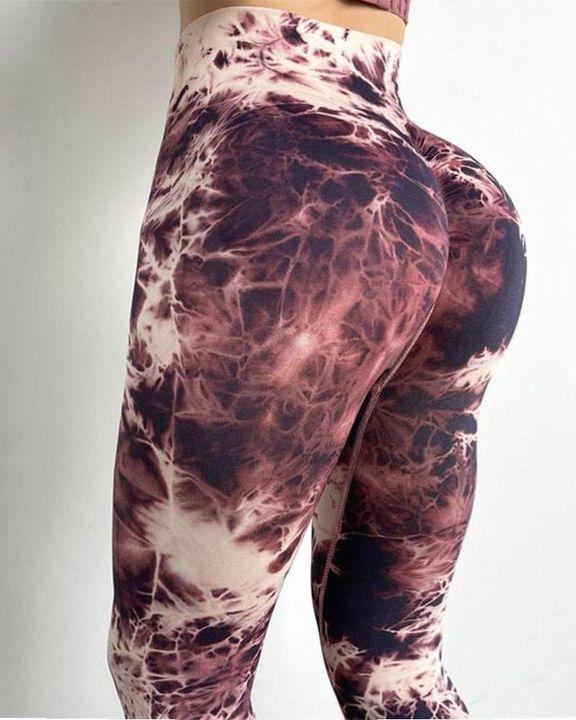 Tie Dye Seamless Butt Lifting Sports Leggings gallery 1