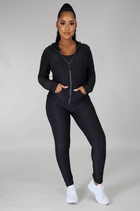Textured Dual Pocket Ruched 3 Piece Set gallery 11