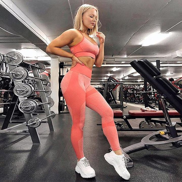 Enhanced Compression Fit Seamless Leggings Set gallery 13