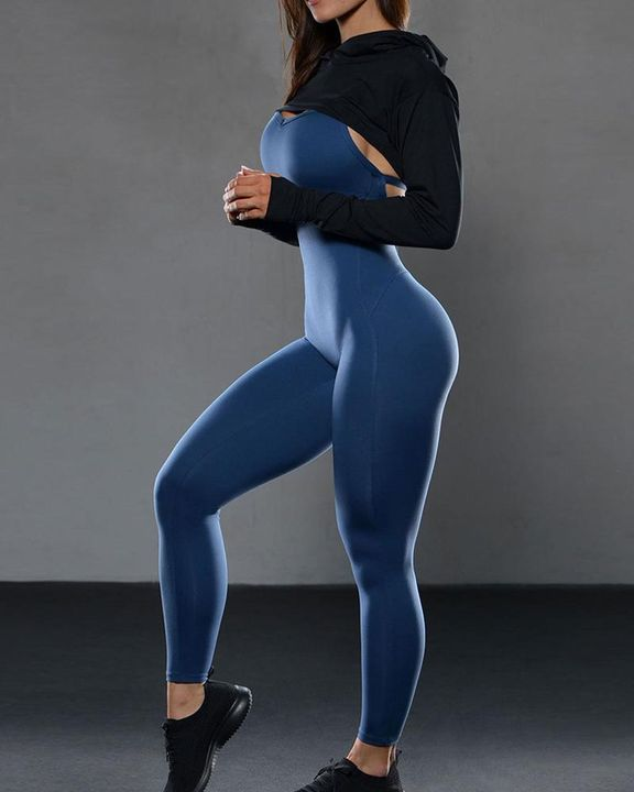 Criss Cross Cut Out Back Sports Jumpsuit gallery 14