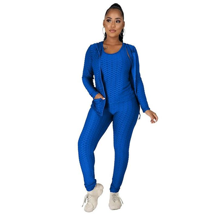 Textured Dual Pocket Ruched 3 Piece Set gallery 19