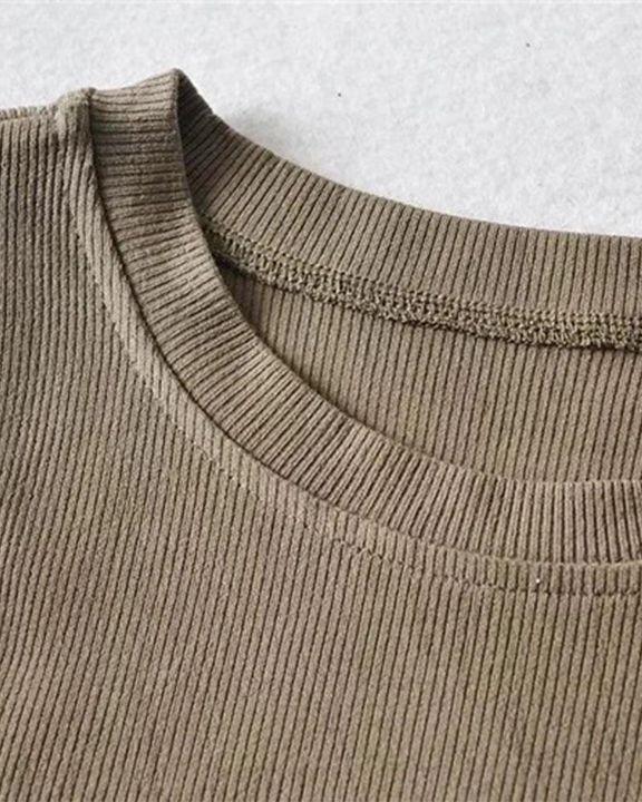 Rib Knit Cold Shoulder Bodycon Sweater gallery 8