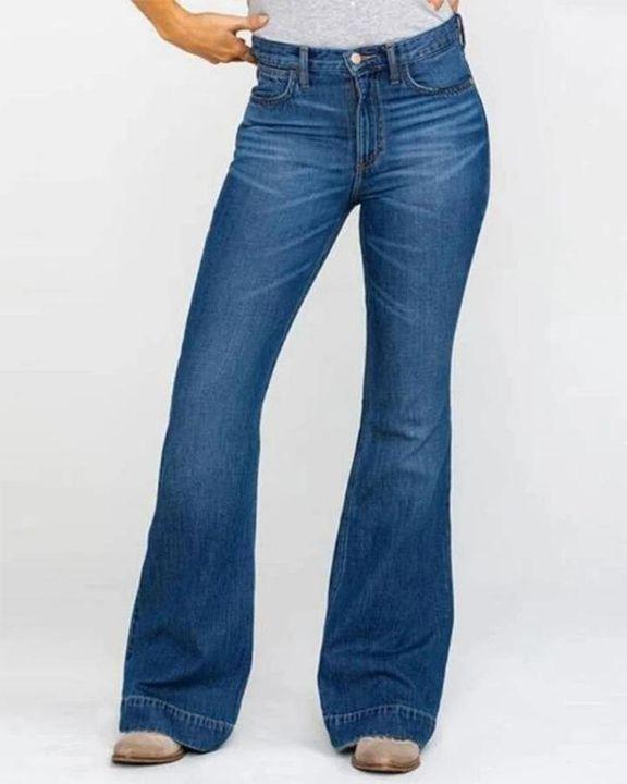 Classic Flare Hem High Waist Jeans gallery 1