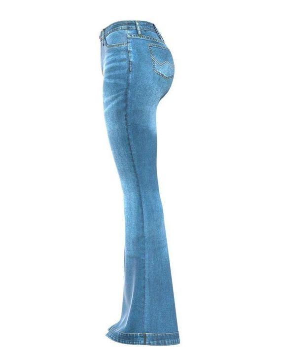 Classic Flare Hem High Waist Jeans gallery 15