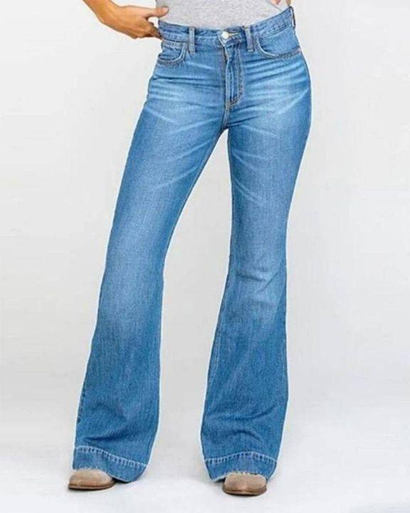 Classic Flare Hem High Waist Jeans gallery 3