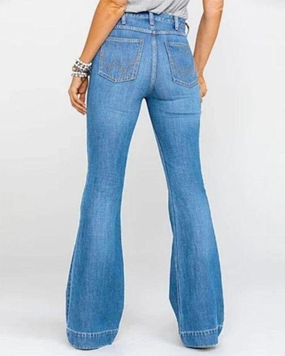 Classic Flare Hem High Waist Jeans gallery 5