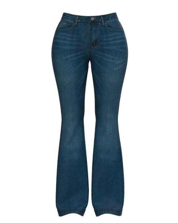 Classic Flare Hem High Waist Jeans gallery 9