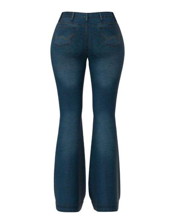 Classic Flare Hem High Waist Jeans gallery 7