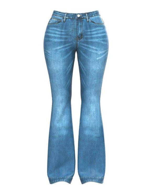 Classic Flare Hem High Waist Jeans gallery 14