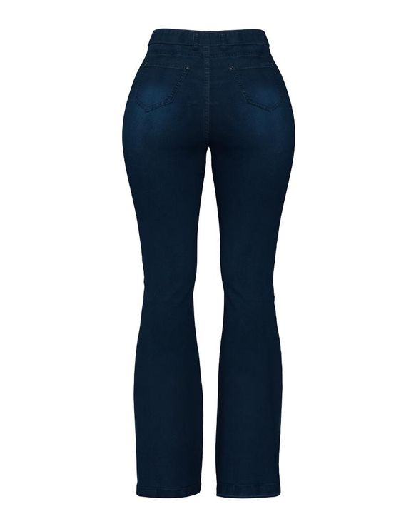 Tie Waist Butt Lifting Flare Jeans gallery 9