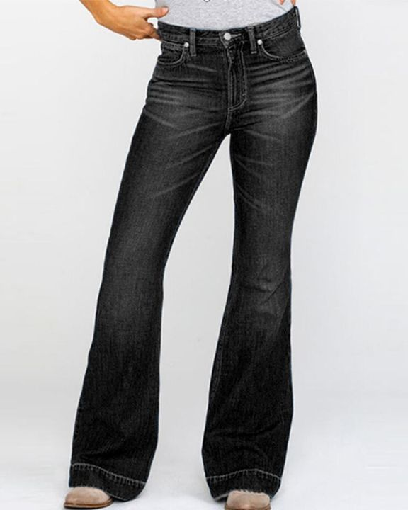 Classic Flare Hem High Waist Jeans gallery 11