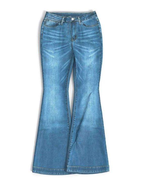 Classic Flare Hem High Waist Jeans gallery 16