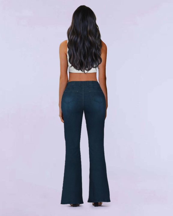 Tie Waist Butt Lifting Flare Jeans gallery 4