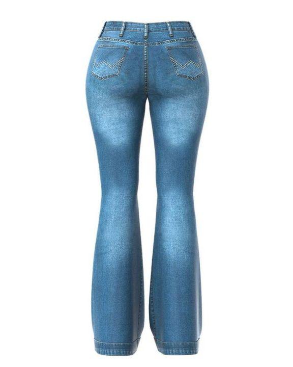 Classic Flare Hem High Waist Jeans gallery 4