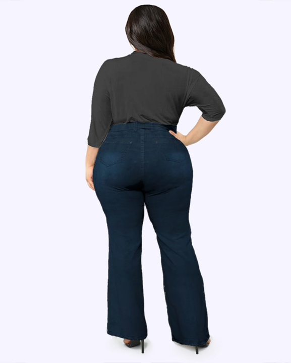 Tie Waist Butt Lifting Flare Jeans gallery 12