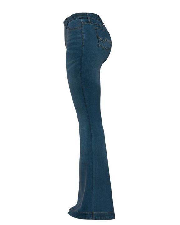 Classic Flare Hem High Waist Jeans gallery 8