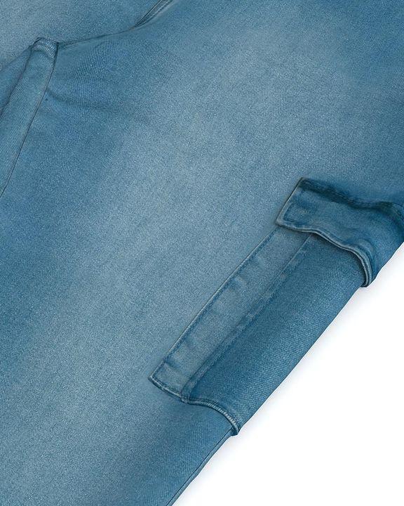 Flap Pocket Zipper Side Skinny Jeans gallery 13