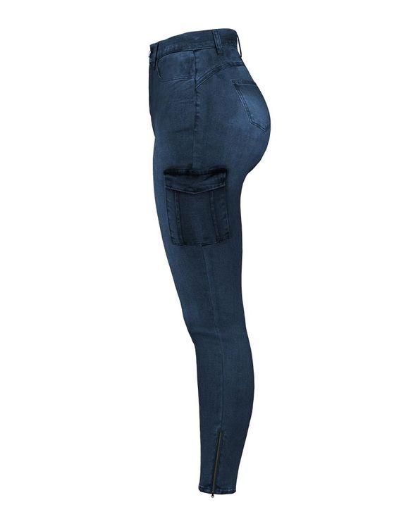 Flap Pocket Zipper Side Skinny Jeans gallery 22