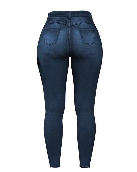 Flap Pocket Zipper Side Skinny Jeans gallery 23