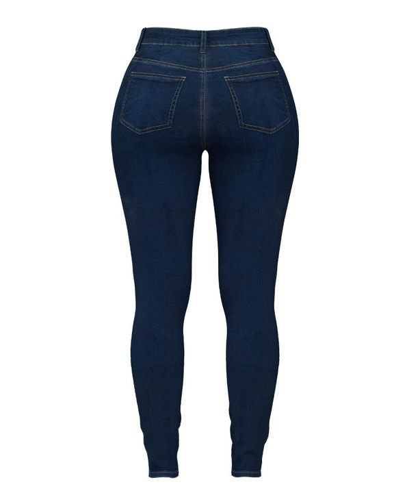 Double Breasted High Waist Skinny Jeans gallery 12