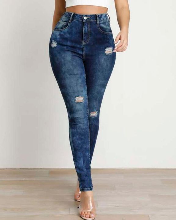 Ripped High Waist Stretchy Curvy Skinny Jeans gallery 1