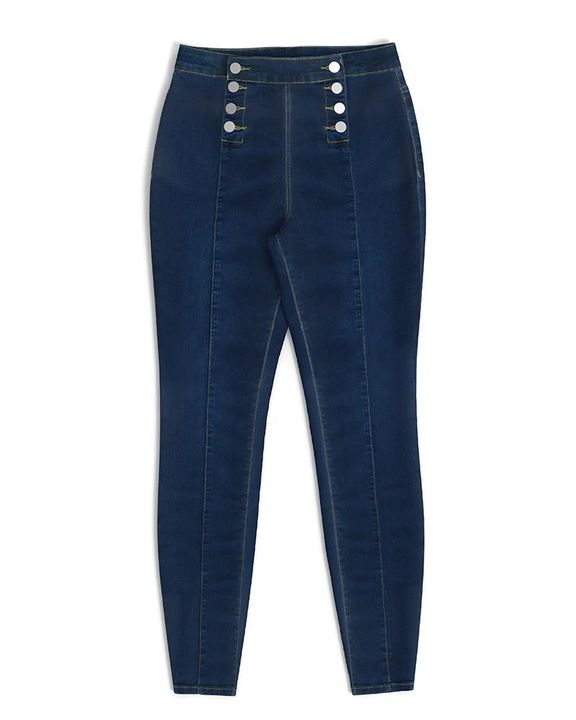 Double Breasted High Waist Skinny Jeans gallery 13